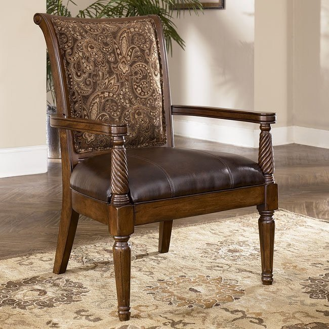 Barcelona - Antique Showood Accent Chair