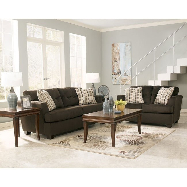 Dallas - Chocolate Living Room Set