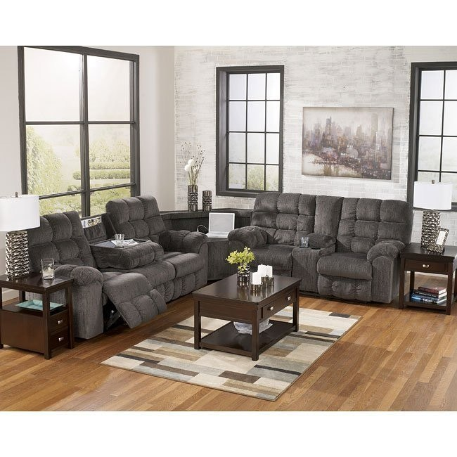 Acieona Slate Reclining Sectional Set