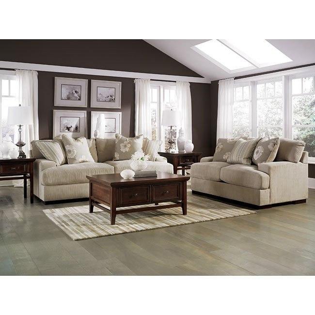 Pia - Linen Living Room Set