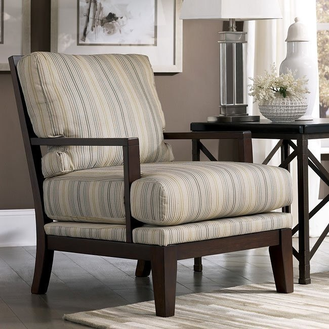 Pia - Linen Showood Accent Chair