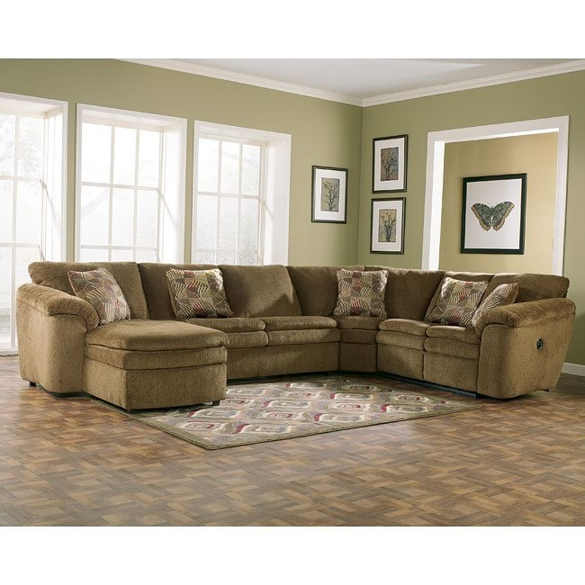 Rebel - Mocha Left Facing Chaise Sectional
