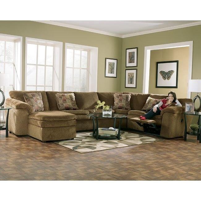 Rebel - Mocha Sectional Living Room Set