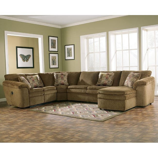 Rebel - Mocha Right Facing Chaise Sectional w/ Sleeper