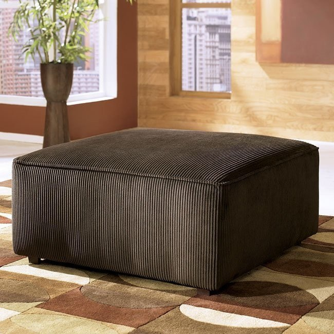 Vista - Chocolate Oversized Accent Ottoman