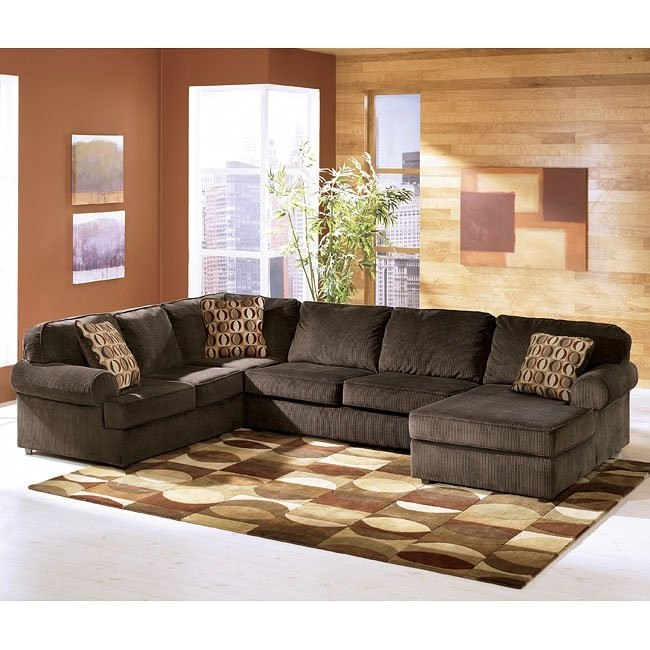 Vista - Chocolate Right Facing Chaise Sectional