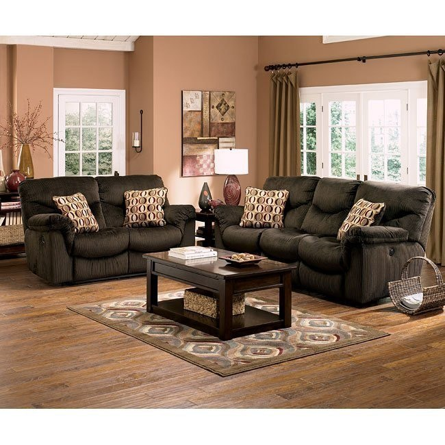 Motivation - Chocolate Reclining Living Room Set