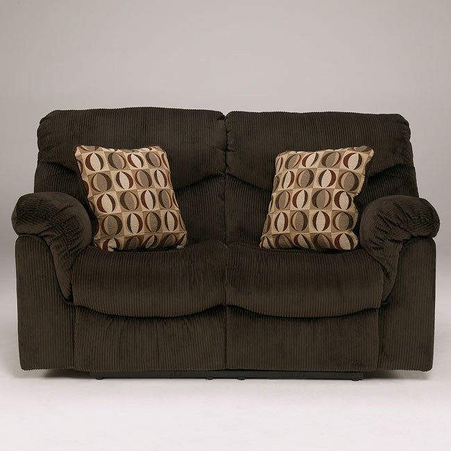 Motivation - Chocolate Reclining Loveseat w/ Power