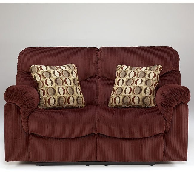 Motivation - Burgundy Reclining Loveseat