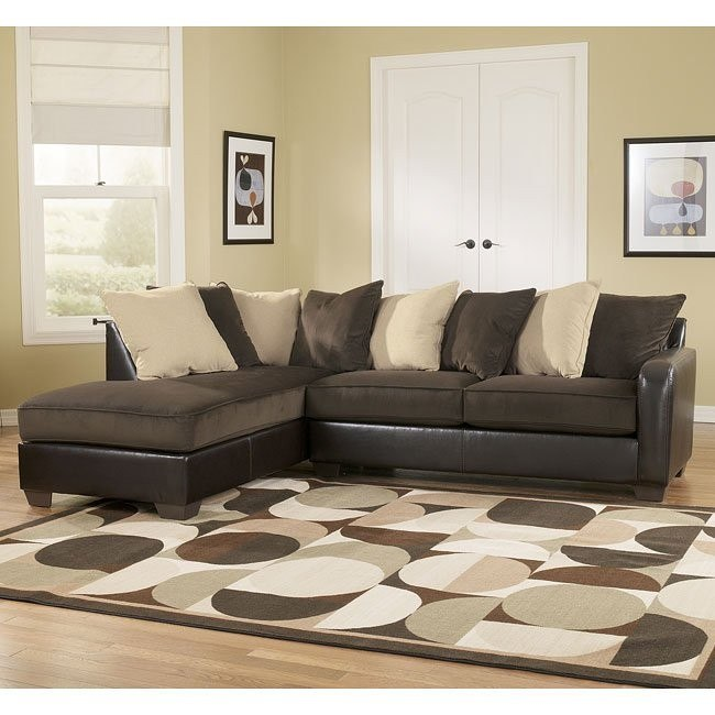 Vivanne - Chocolate Left Facing Chaise Sectional