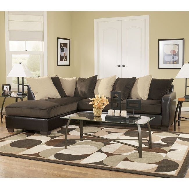 Vivanne - Chocolate Sectional Living Room Set