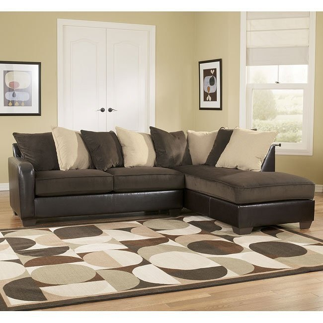 Vivanne - Chocolate Right Facing Chaise Sectional