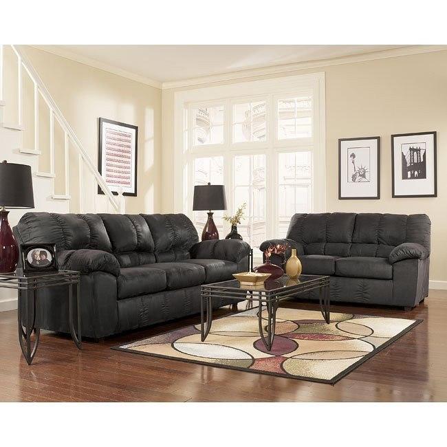 Dominator - Black Living Room Set