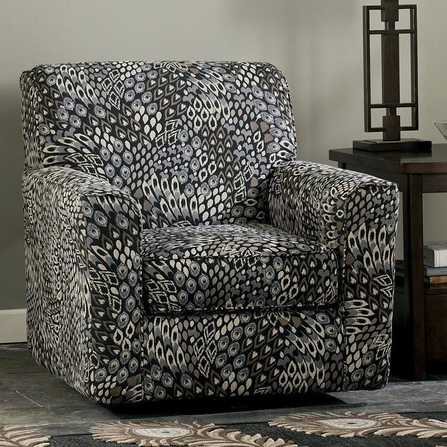 Lexi - Stone Swivel Accent Chair