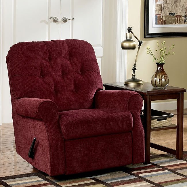 Collette - Burgundy Swivel Glider Recliner