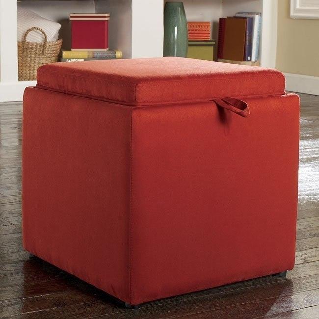 Cubit - Salsa Ottoman w/ Flip Top (1 Cube Inside)