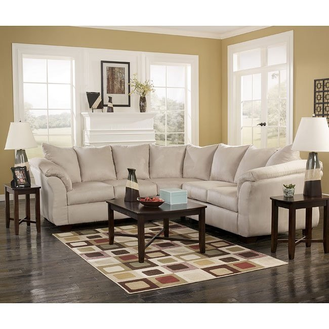 Strange Darcy Stone Sectional Living Room Set Best Image Libraries Thycampuscom