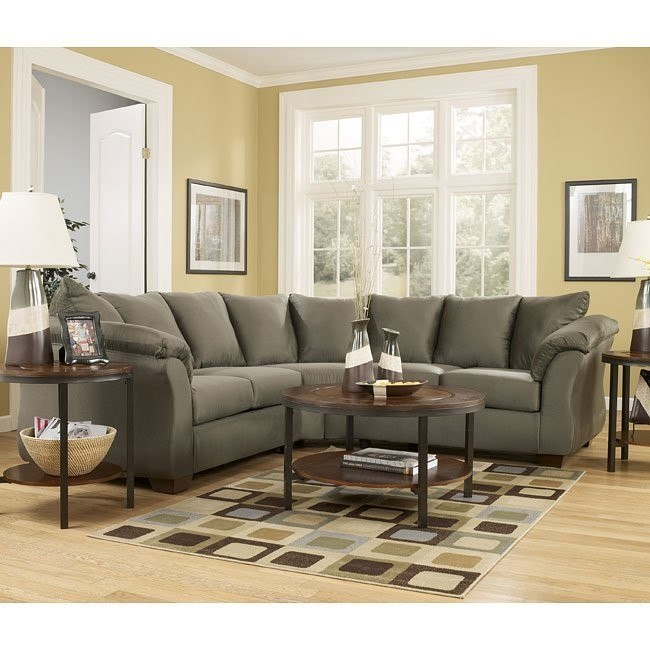 Darcy - Sage Sectional Living Room Set