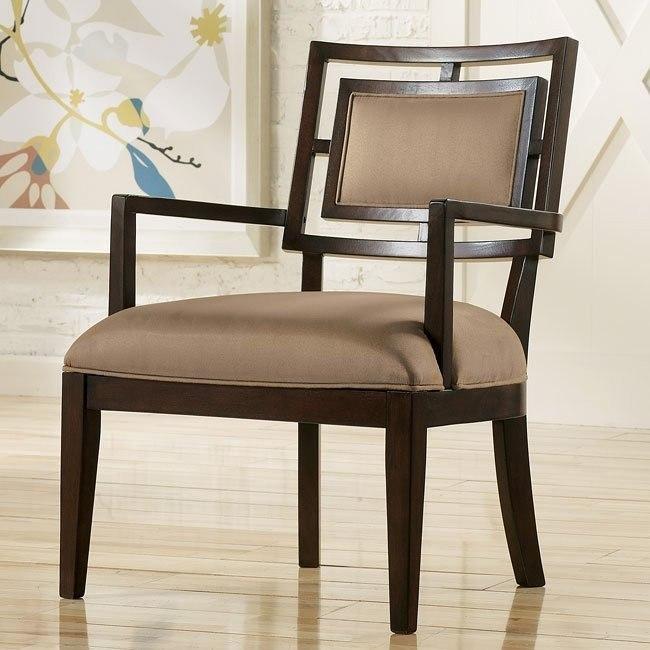 Aaron - Mocha Showood Accent Chair