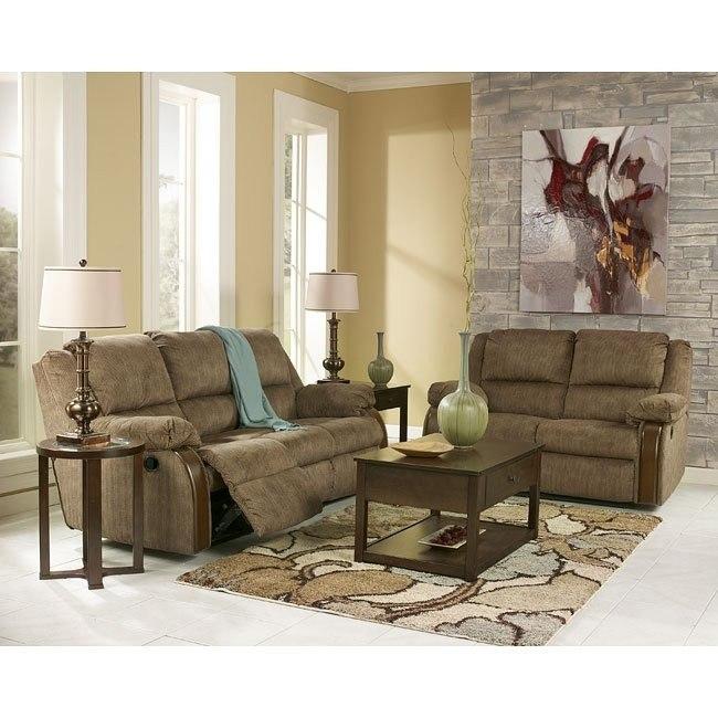 Ashworth - Caramel Reclining Living Room Set