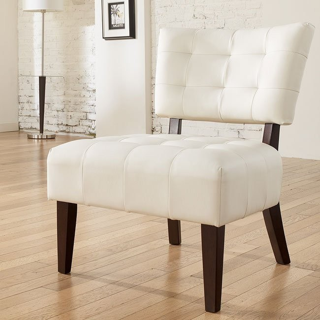Matrix - Ivory Showood Accent Chair