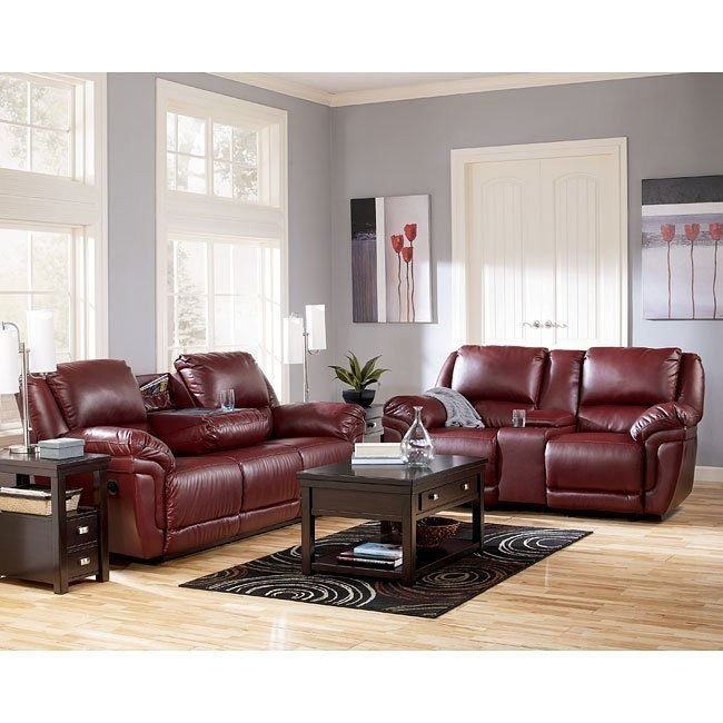 Magician DuraBlend - Garnet Reclining Living Room Set