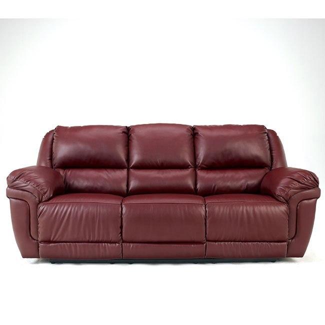 Magician DuraBlend - Garnet Reclining Sofa w/ DDT & Massage