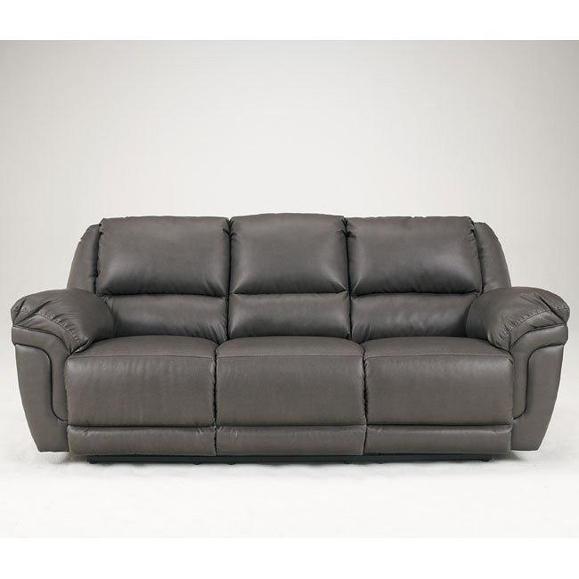 Magician DuraBlend - Slate Reclining Sofa w/ DDT & Massage