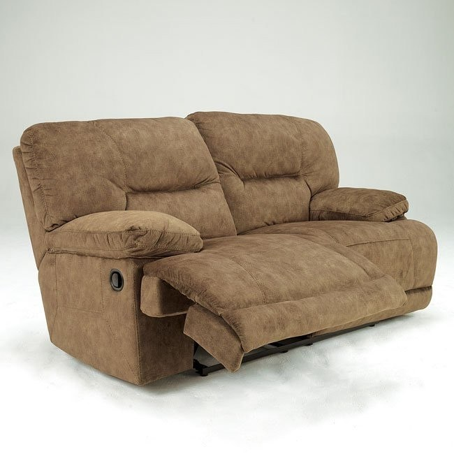 Gladiator - Nutmeg Reclining Loveseat with Power