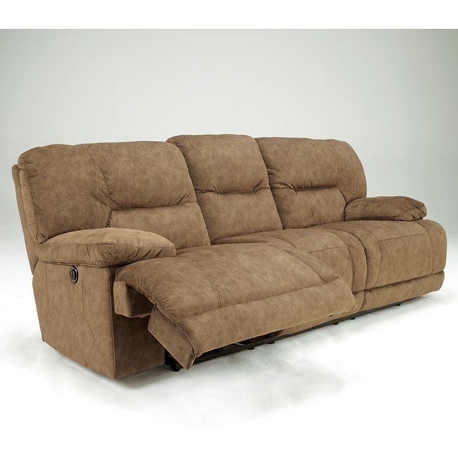 Gladiator - Nutmeg Reclining Sofa with Power
