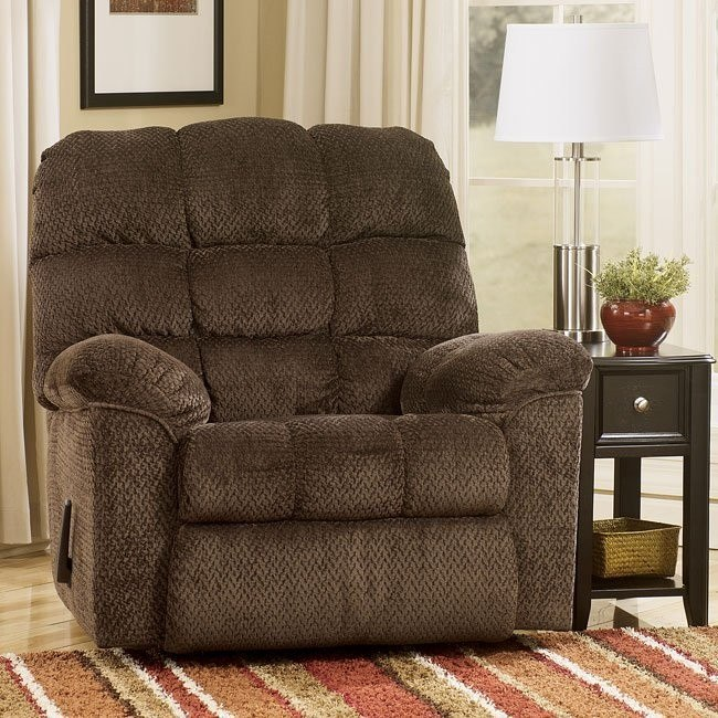 Taboo - Chocolate Rocker Recliner