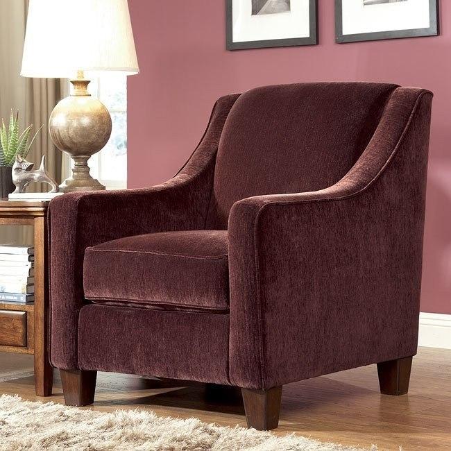 Mallie Pecan Accent Chair