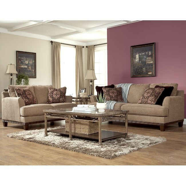 Mallie Pecan Living Room Set