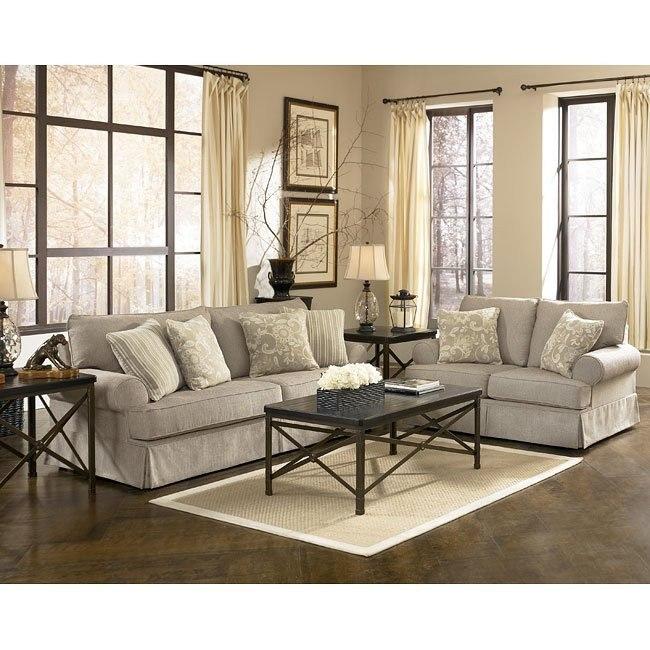 Candlewick - Linen Living Room Set