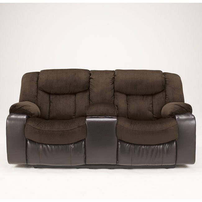 Tafton - Java Double Reclining Loveseat w/ Console