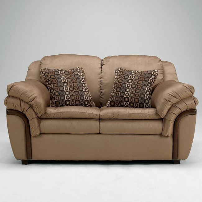 Presley Cocoa Loveseat Signature Design By Ashley Furniture