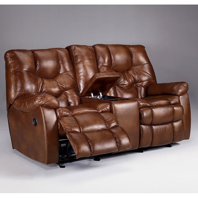 Hawkeye - Dune Dual Glider Reclining Loveseat w/ Console and Power
