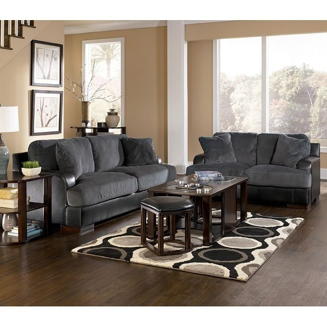 Farris - Pewter Living Room Set