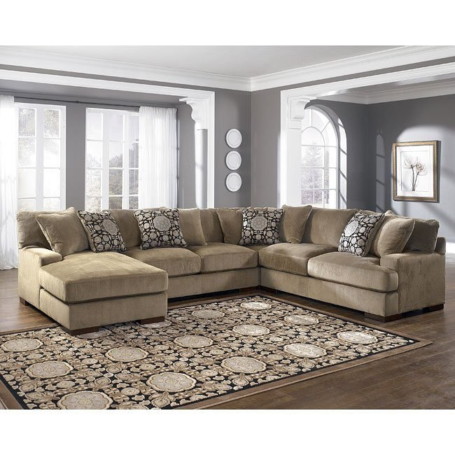 Grenada - Mocha Left Facing Chaise 4-Piece Sectional