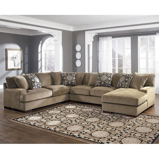 Grenada - Mocha Right Facing Chaise 4-Piece Sectional