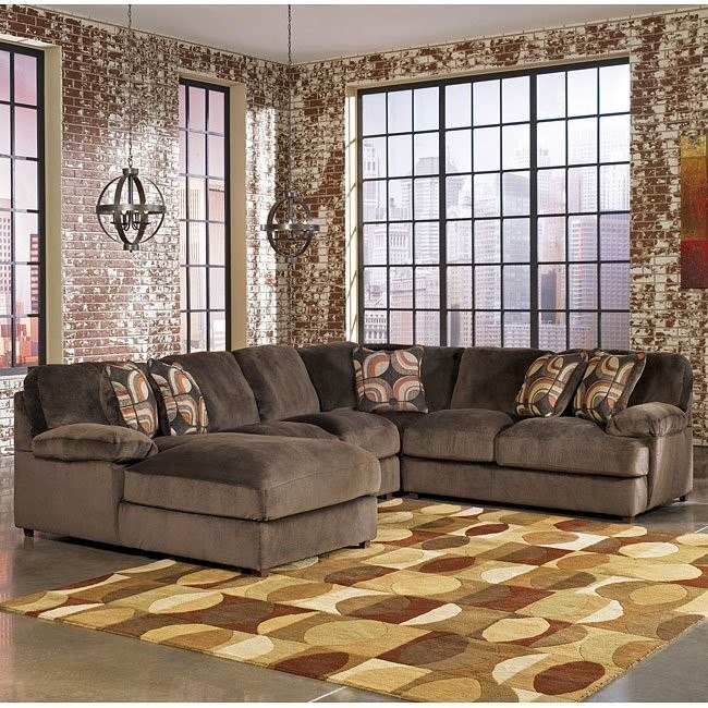 Truscotti - Cafe Left Chaise Sectional w/ Armless Loveseat