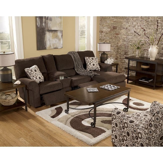 Cybertrack - Chocolate Sectional Living Room Set