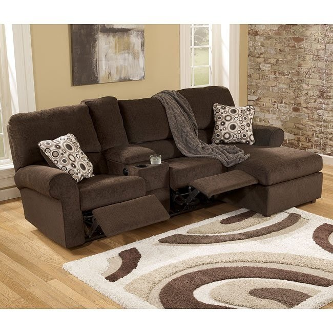 Cybertrack - Chocolate Right Chaise Reclining Sectional