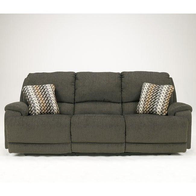 Herztio - Steel Reclining Sofa w/ Power