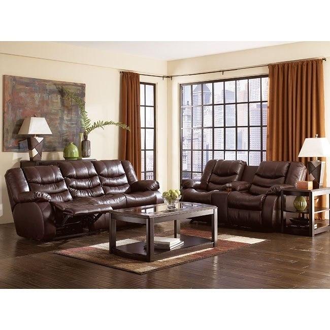 Revolution - Burgundy Reclining Living Room Set
