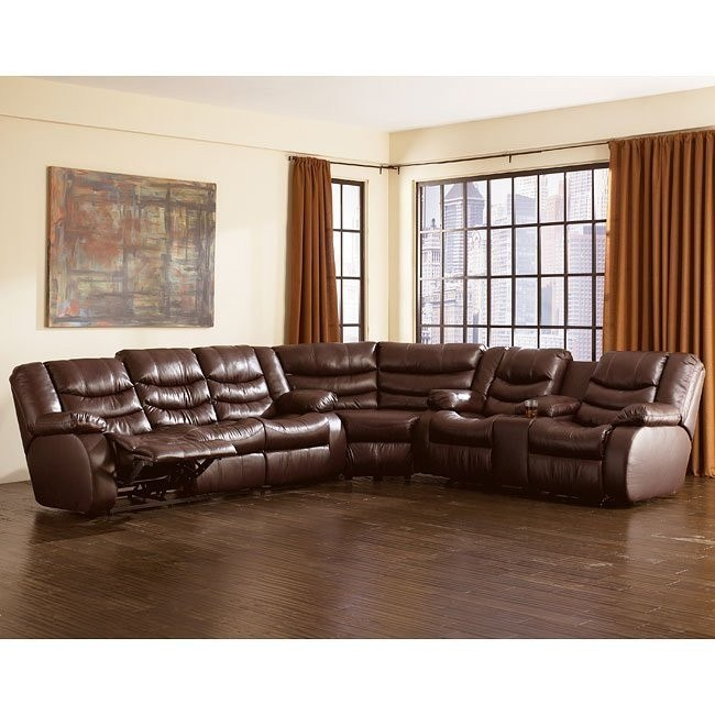 Revolution - Burgundy Reclining Sectional