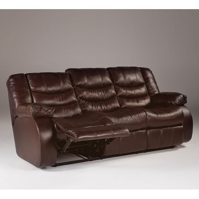 Revolution - Burgundy Reclining Sofa w/ Power