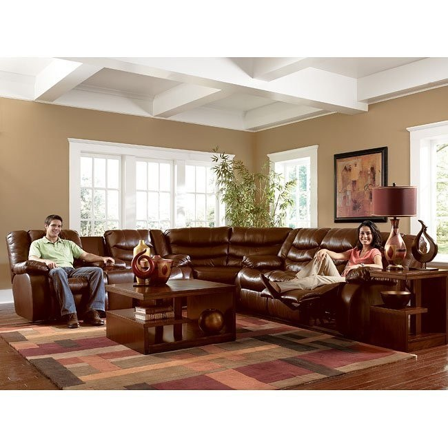 Revolution - Saddle Reclining Sectional Living Room Set