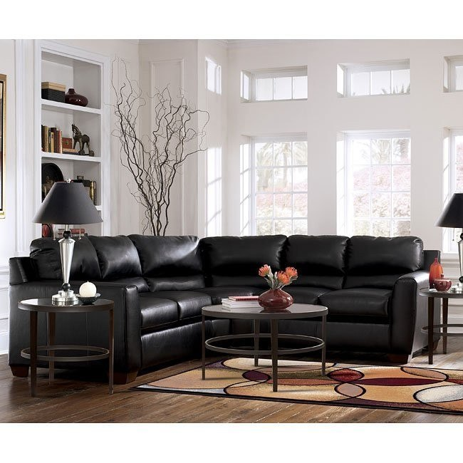 DuraBlend - Onyx Sectional Living Room Set