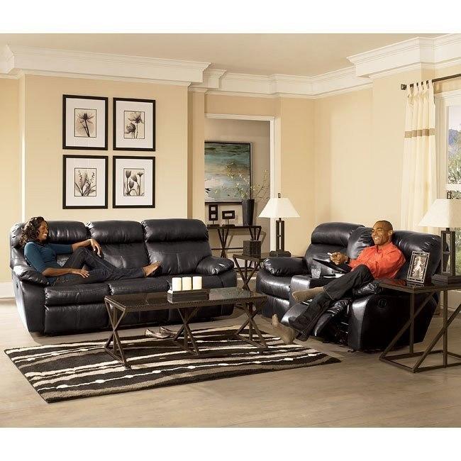 Sander Durablend - Charcoal Power Living Room Set